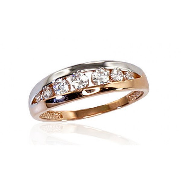 """Zelta gredzens """"Tokija IX"""" no 585 proves sarkanā zelta"""