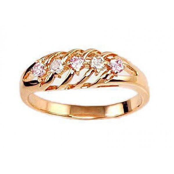"""Zelta gredzens """"Kamēlija II"""" no 585 proves sarkanā zelta"""