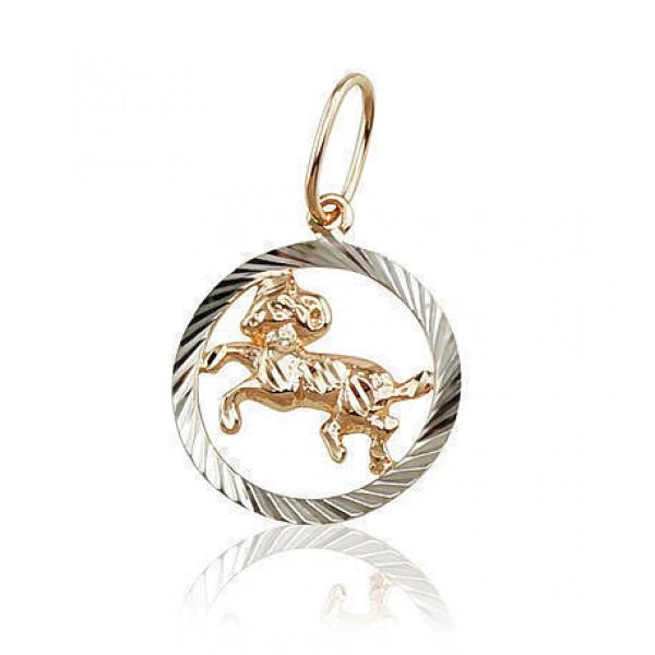 "Zelta kulons - zodiaka zīme ""Auns II"" no 585 proves sarkanā zelta"