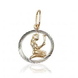 "Zelta kulons - zodiaka zīme ""Jaunava II"" no 585 proves sarkanā zelta"