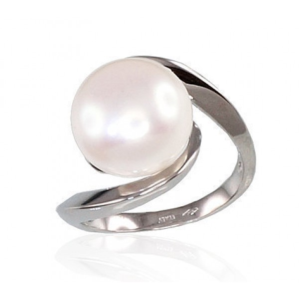 "Zelta gredzens ar pērlēm ""Galoss XIV"" no 585 proves baltā zelta"