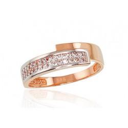 """Zelta gredzens """"Brigita II"""" no 585 proves sarkanā zelta"""