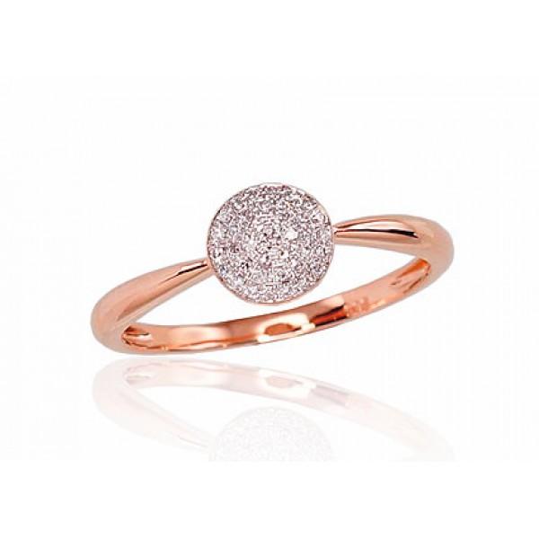 """Zelta gredzens ar briljantiem """"Grācija"""" no 585 proves sarkanā zelta"""