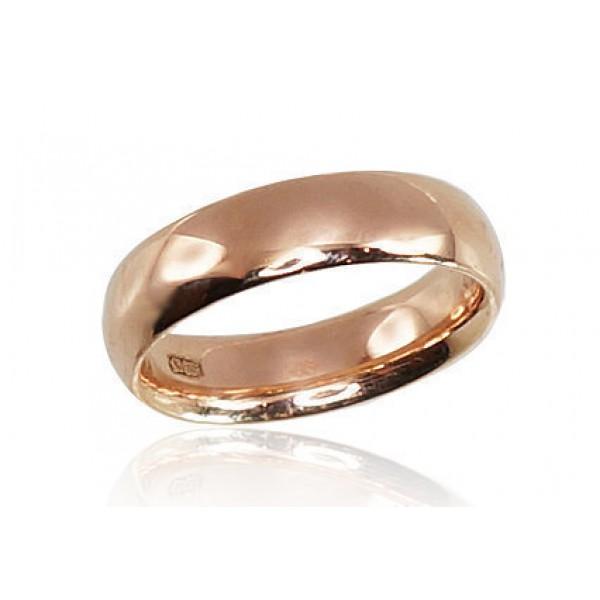 """Zelta laulības gredzens """"Klasika III"""" no 585 proves sarkanā zelta"""