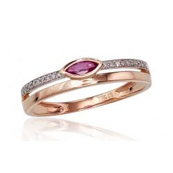 "Zelta gredzens ar briljantiem ""Debesu Velte IV"" no 585 proves sarkanā zelta"