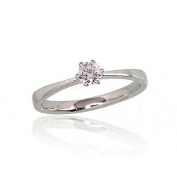 "Zelta gredzens ar briljantiem ""Solitire"" no 585 proves baltā zelta"